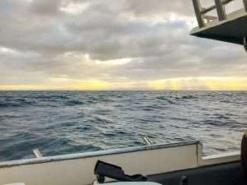 Sunrise over Adelaide onboard Strike 1 Fishing Charter