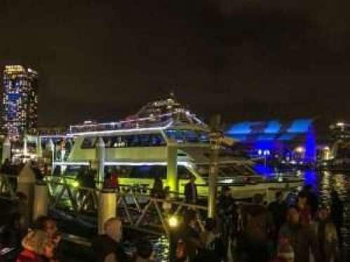 Groupon Vivid Sydney Boat Cruise Review - SuperCat Boat at Kings Wharf