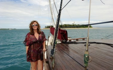Slightly windswept on the Great Barrier Reef