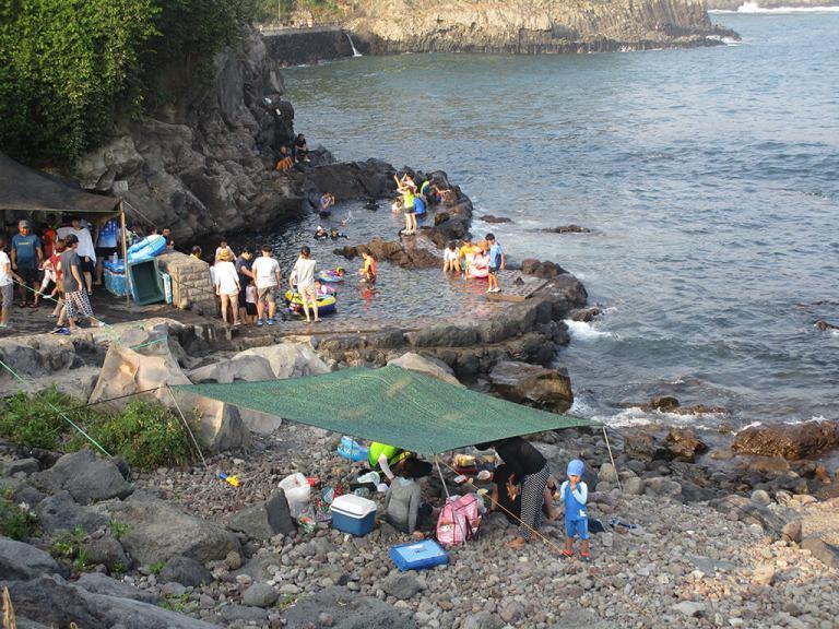 Jeju Island Heartshape Swimming Hole