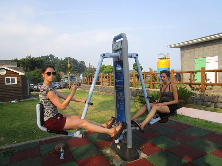 Jeju Island Park Workout