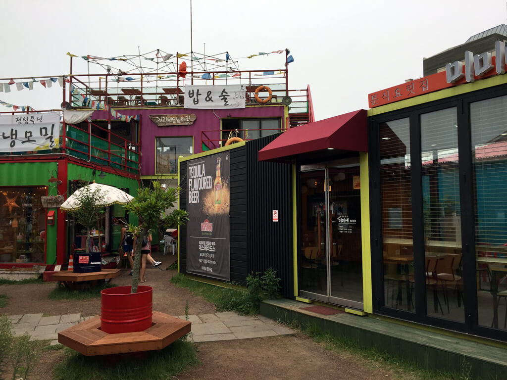 Funky Korean Shipping Container Shops