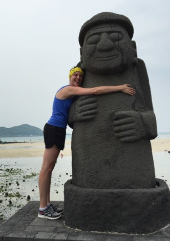 The magic of travel  Hugs for all on Jeju Island