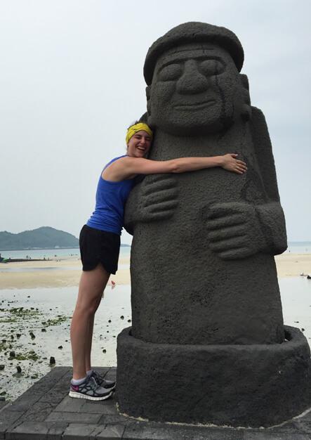Hugs for all on Jeju Island