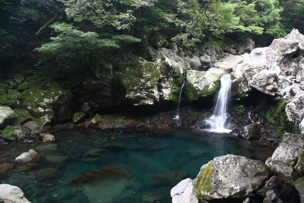 View of Wonang Falls on Jeju Island
