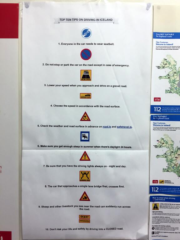 Egilsstadir Campground - Icelandic Driving Signs