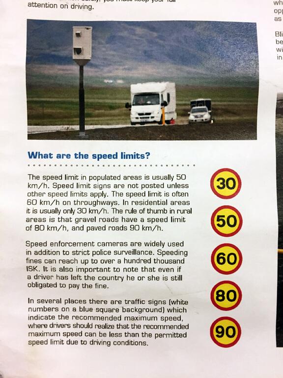 Egilsstadir Campground - Icelandic Driving Speeds