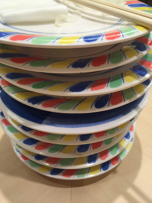 Japanese Sushi Plate Stack