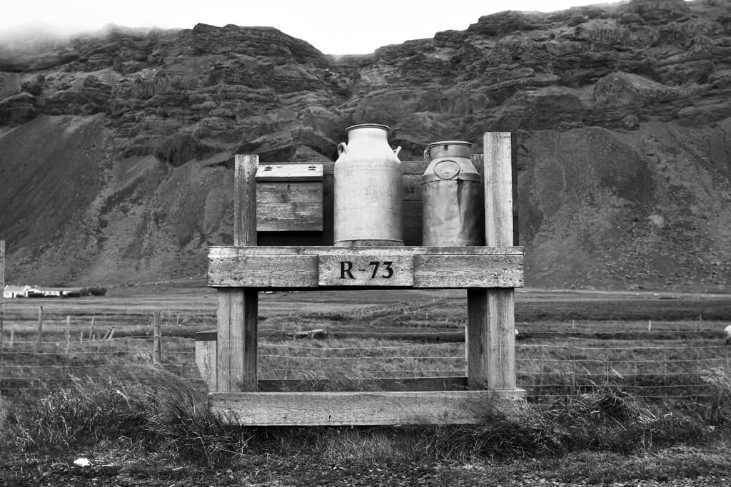 Iceland Milk Cans
