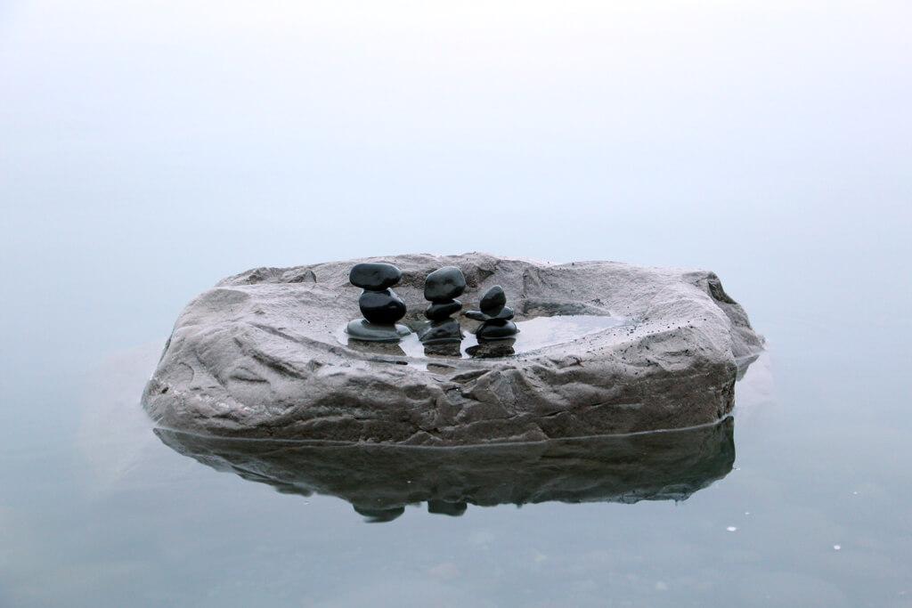Iceland Pebble Water Inukshuk