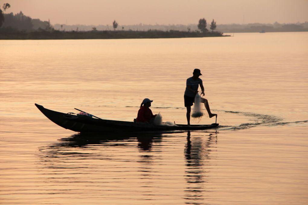 Vietnam Boat Fishing Night