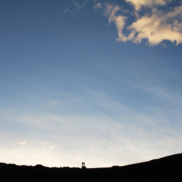 Iceland Skyline Couple Silhouette