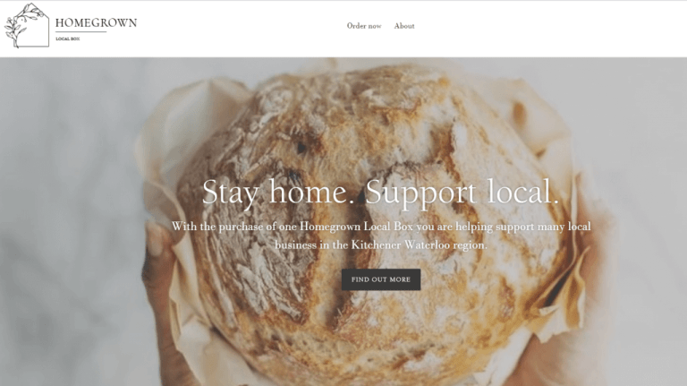 KW's Homegrown Local Box Website