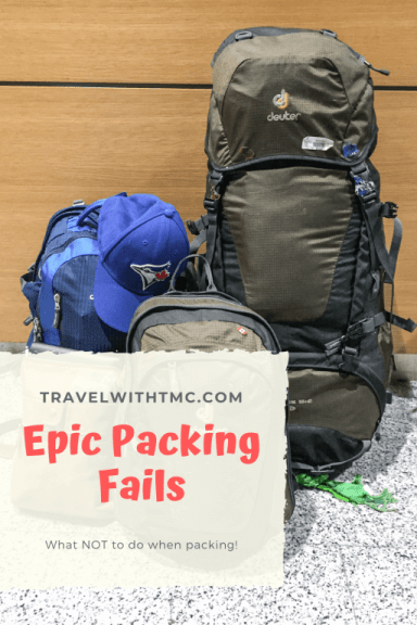 Worst Packing Failures EVER! Here are stories from my most epic packing fails.