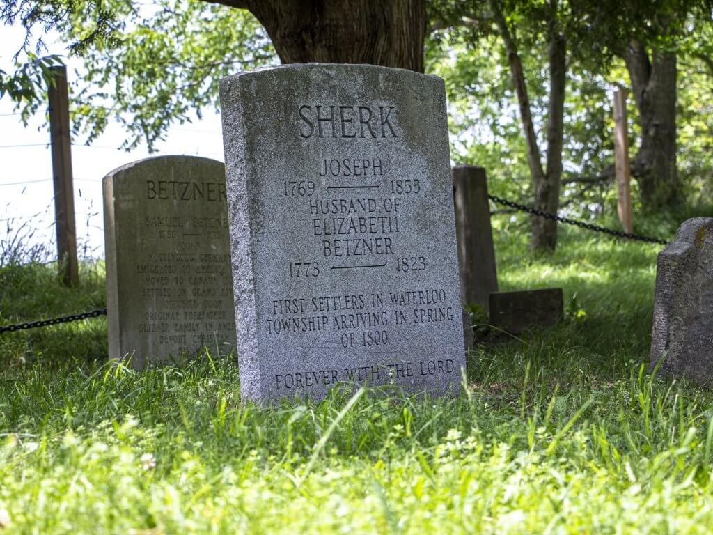 Joseph Schoerg-Sherk's Gravesite at Pioneer Memorial Tower