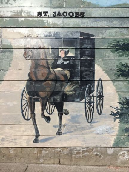 St. Jacob's Mural of Old Order Mennonite Horse and Buggy