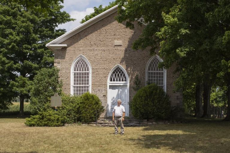 Alan Kelley at Paris Plains Stone Church in Ontario, Canada