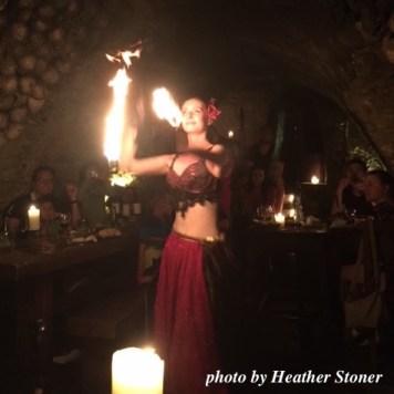 ©TravelwithWendy %22belly dancer - Medieval dinner%22 Prague www.travelwithwendy.net