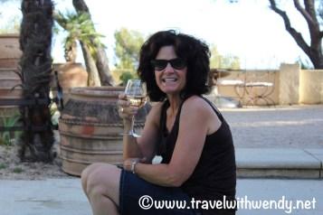 Enjoying some wine poolside - L'Elephant