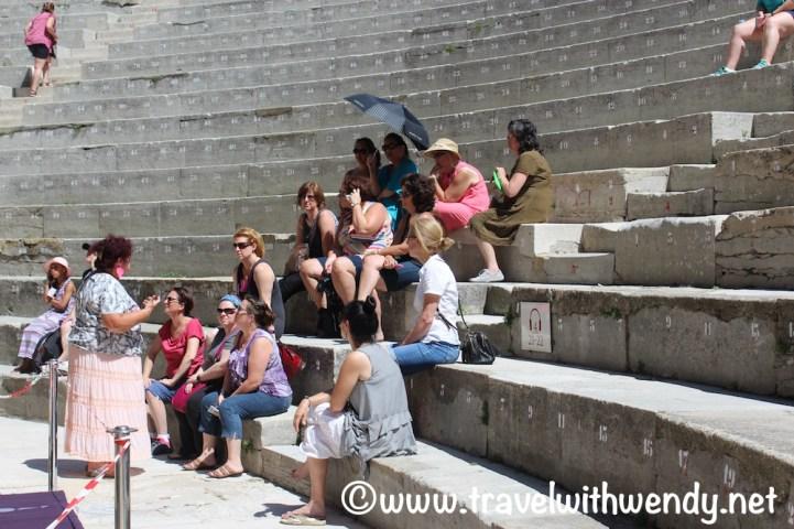 Orange Theater Tour - hot day