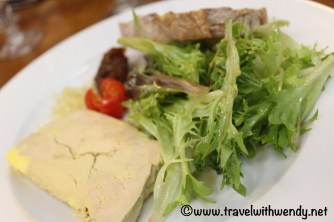 Goose pate with salad