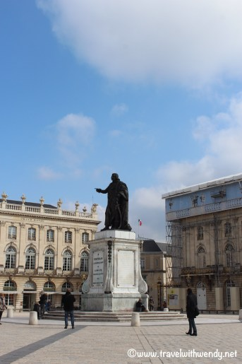 Square in Nancy - Stanislaus - Polish leader