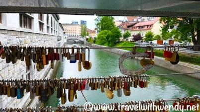 Love lock bridge - Ljubljana