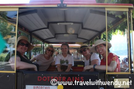 Mini-Train ride around Bellagio