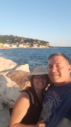 Having fun at the beach - Piran