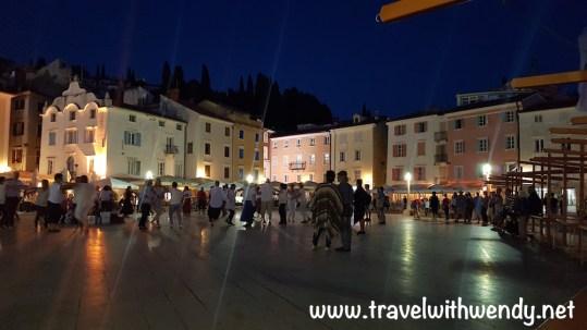 Tartini square at night