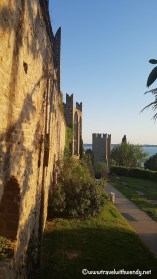 Views from the night - wall in Piran