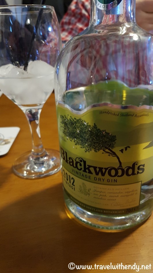 Blackwoods Gin - local gin that was YUMMY!