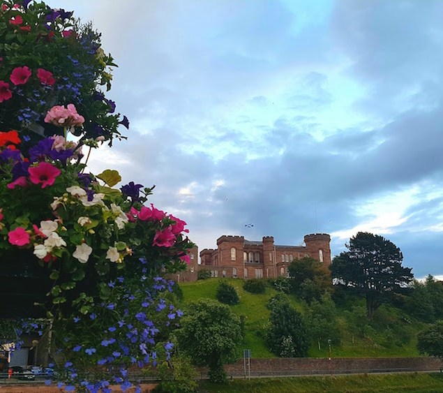 Inverness castle at night