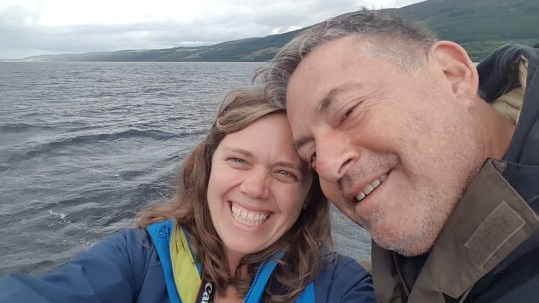 Lochness ~ Jon and I on the ferry