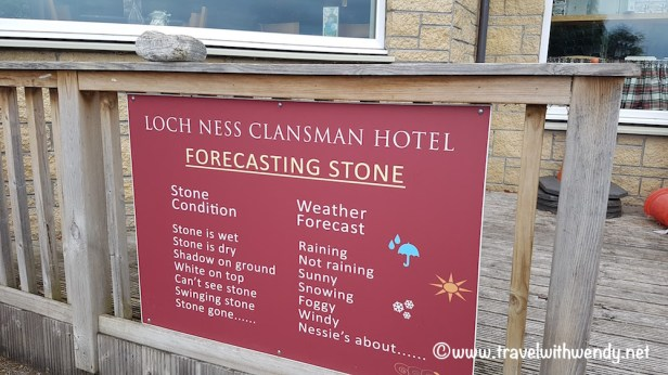 Weather forecasting stone - Lochness