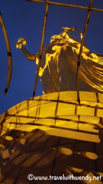Berlin at Night - Lady Victory up close and at night