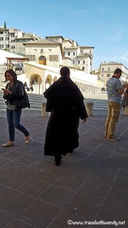 Franciscan monks on the run