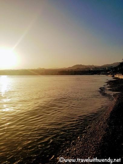 Eilat at sunset