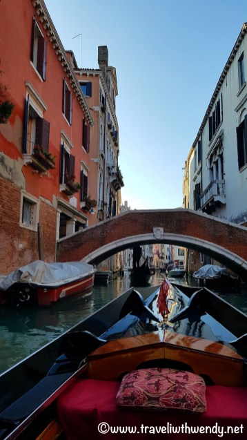 Gondola rides along the canals