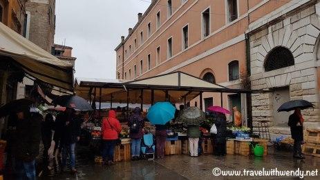 Markets in the rain