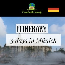 itinerary 3-day Münich