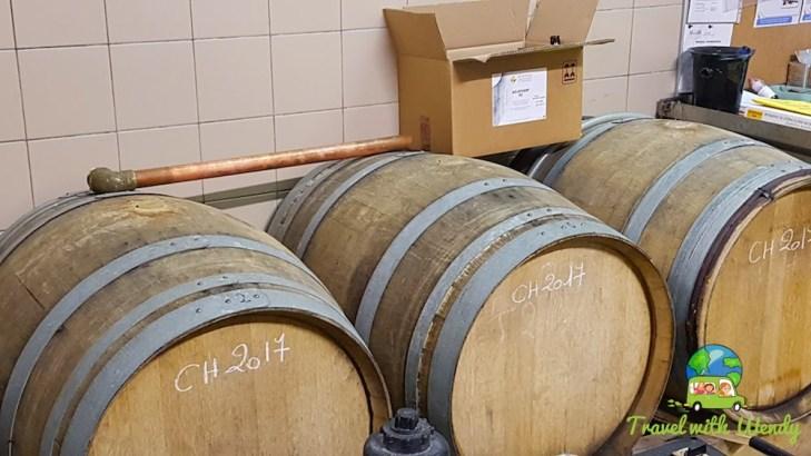 Aged barrels for better tastes...