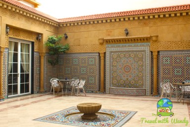 Courtyard of Riad