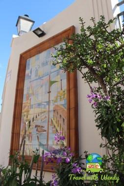 Harbor art in Melilla