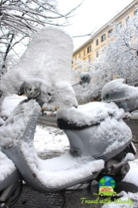 Snowy rides in Rome
