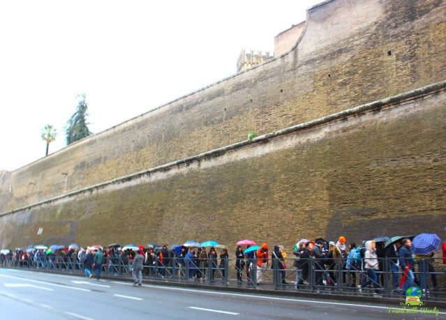 Standing in line for the Vatican