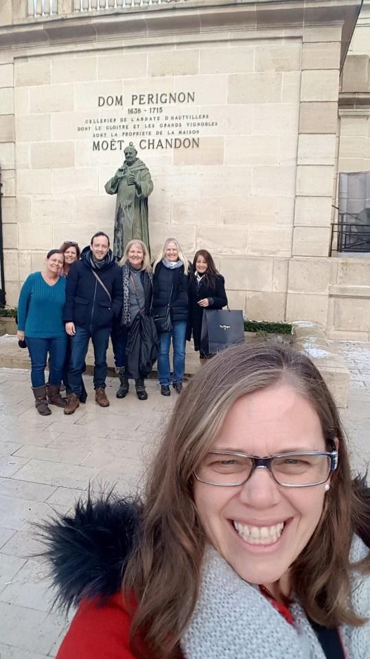 Tour of Moët & Chandon with Raphael