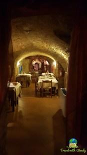 Original wine cave restaurant in Piemonte