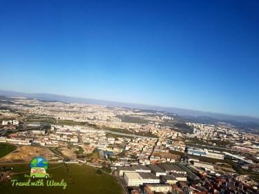 Flying into Lisbon