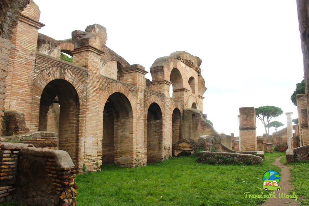 Market square in Ostia Antica